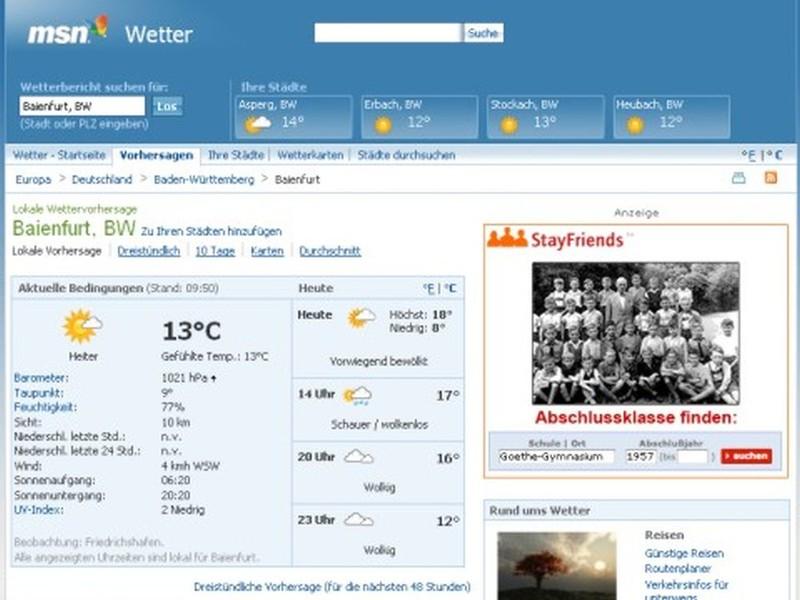 Wetter Baienfurt